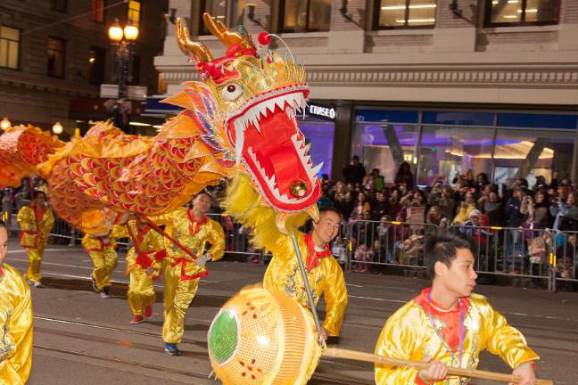 dragon dance chinese parade