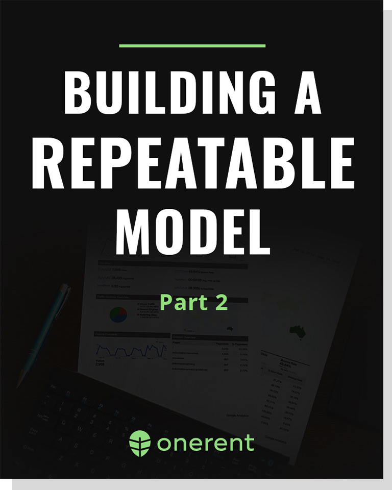 Building A Repeatable Model