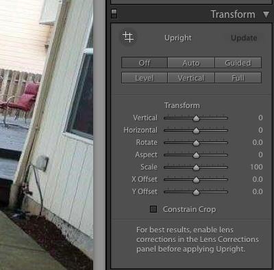 how to fix tilted photos in adobe lightroom