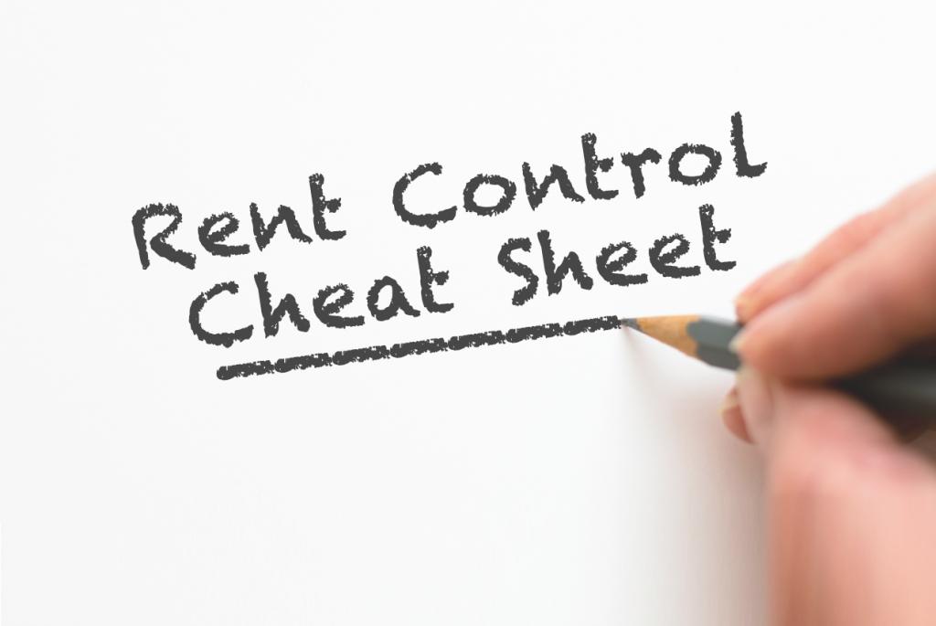 rent control cheat sheet