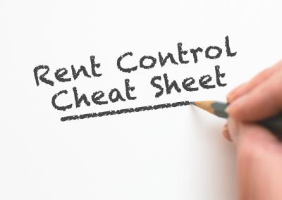 San Francisco Bay Area Rent Control Cheat Sheet