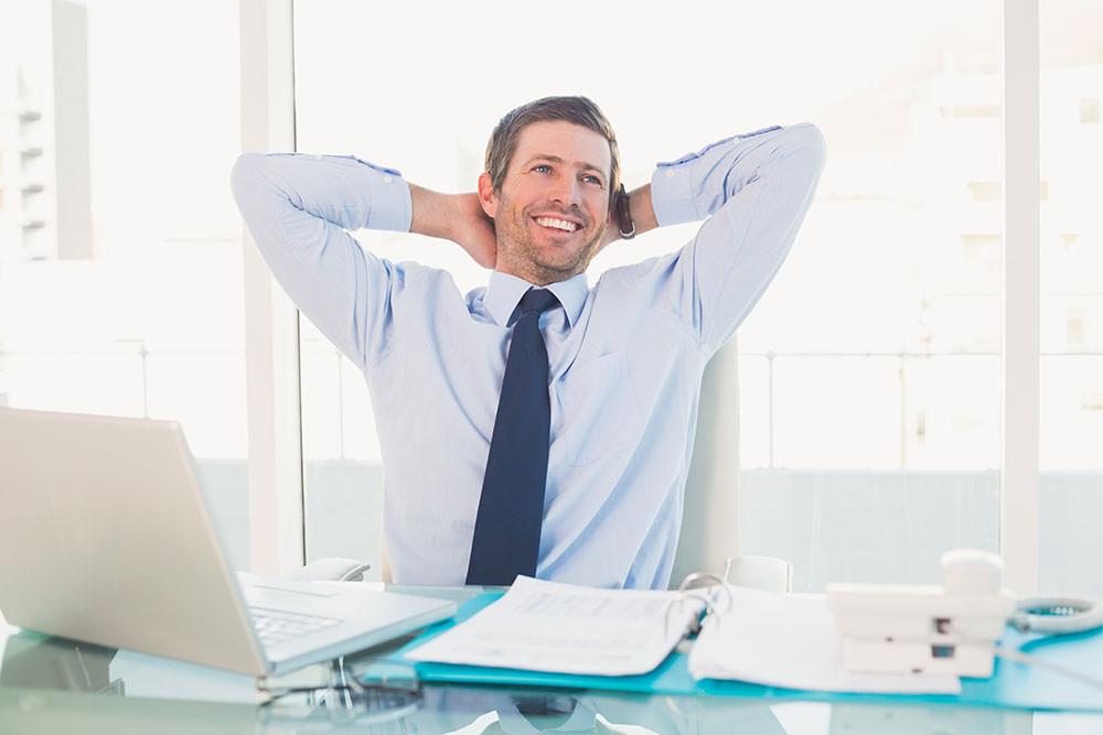 stress free businessman
