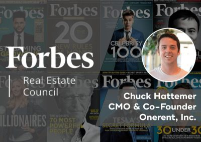 Onerent CMO Chuck Hattemer Joins Forbes Real Estate Council