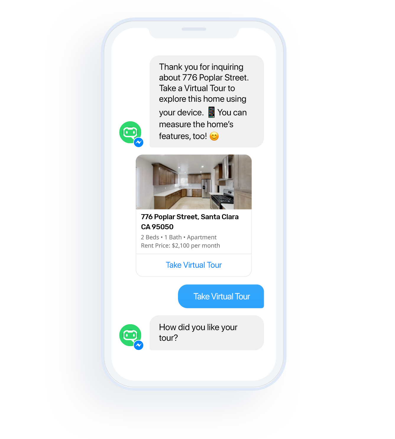 Contactless Rentals - Leasing Chatbot