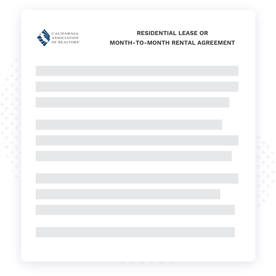 Local-standard rental lease agreement