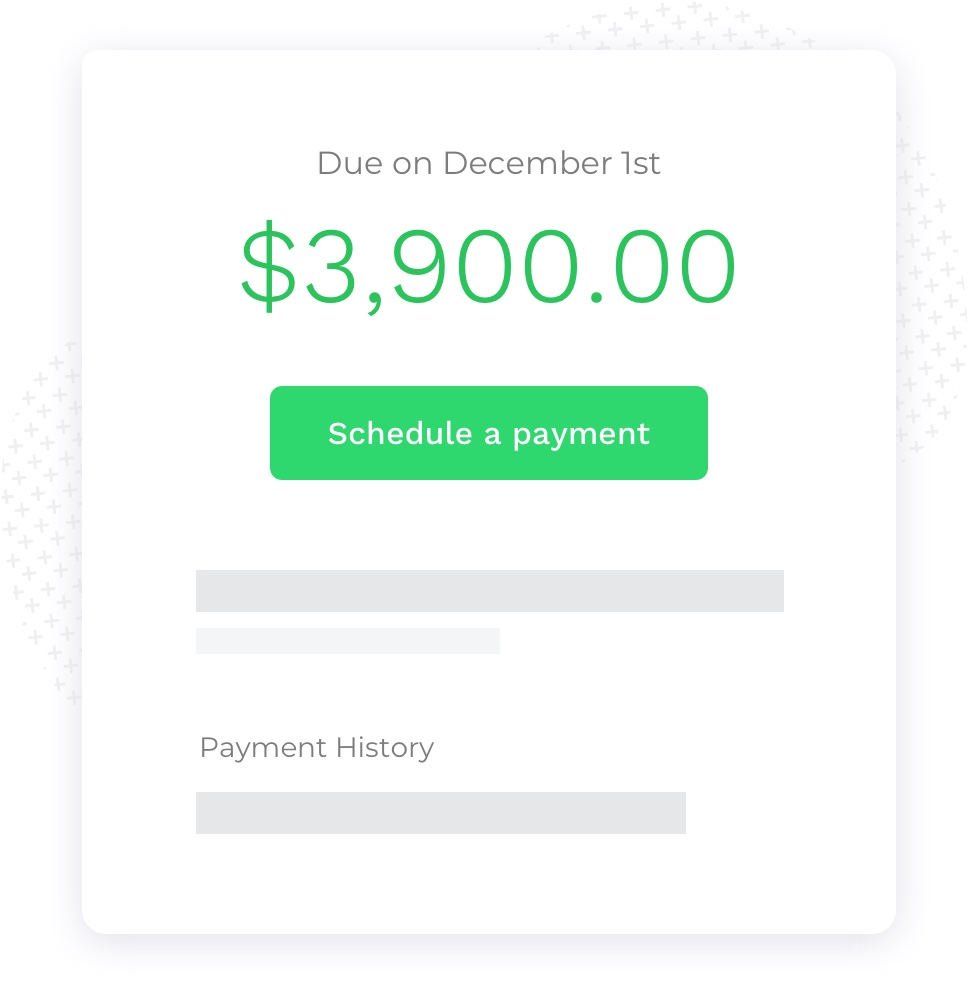 Easy rent payment method for tenants