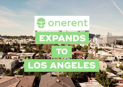 Onerent's On-demand Rental Service Launches in Los Angeles, CA