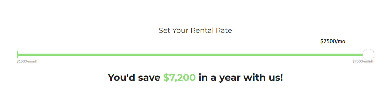 set your rental rate